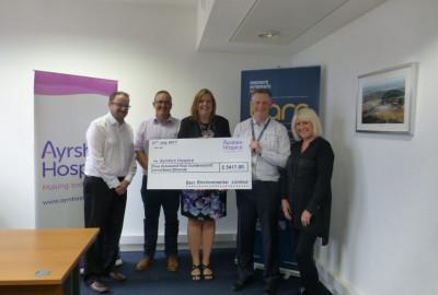 Barr delivers over £5,000 of support to the Ayrshire Hospice